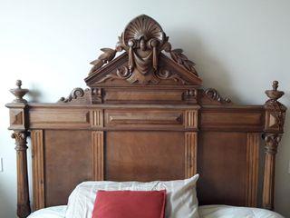 antiguedad, dormitorio matrimonio, castaño macizo