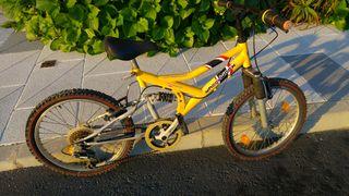 Bicicleta niño doble suspension 20 pulgadas