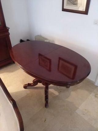 Mesa Comedor ovalada extensible de segunda mano por 170 € en ...