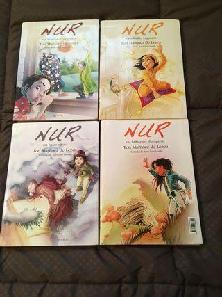 4 libros de Nur en euskera