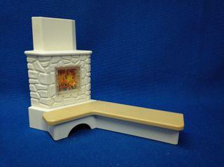 Playmobil Chimenea de rincon con banco