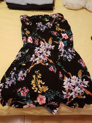 mono flores vestido verano