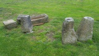 Bases de piedra para columnas