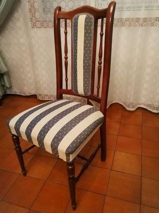 Sillas madera maciza tapizado semi nuevo