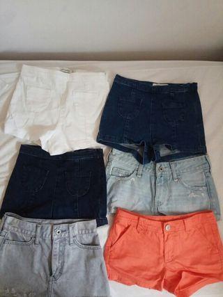 6 pantalones vaqueros cortos talla 8-10