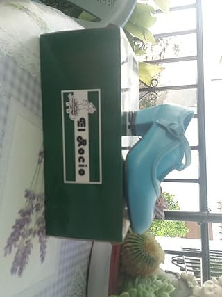 Zapato de gitana turquesa n°26