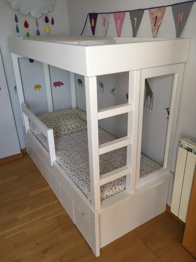 Litera infantil a medida con cama nido de segunda mano por 550 en igualada en wallapop - Litera con cama nido ...