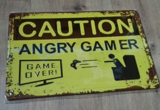 Cartel Angry Gamer. Game Over.