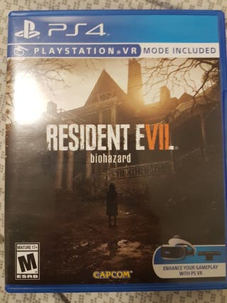 Juego ps4 - resident evil 7 Biohazard vr