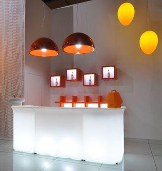Barra bar iluminada