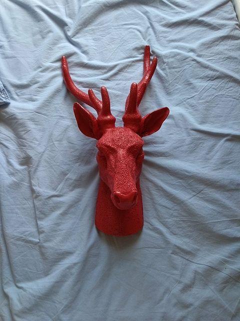 Red cast deer decoration