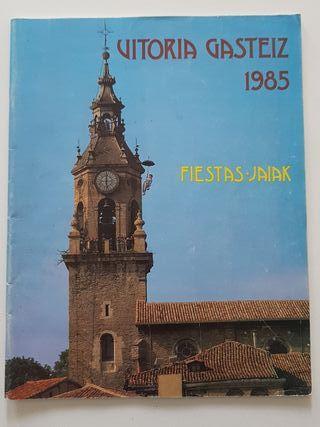 Programa oficial fiestas La Blanca Vitoria 1985