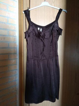 Vestido de seda de Mango