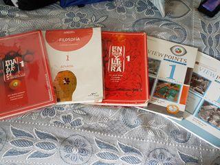 vendo libros de 1° y 2° de bachillerato