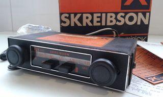 RADIO COCHE ANTIGUO SKREIBSON,SEAT 127,FIAT 600.