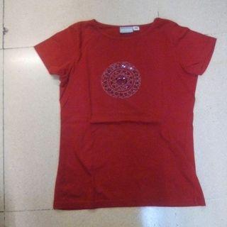 camiseta etnica roja talla 38/40