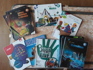 Libros de texto 6° primaria Colegio Artica