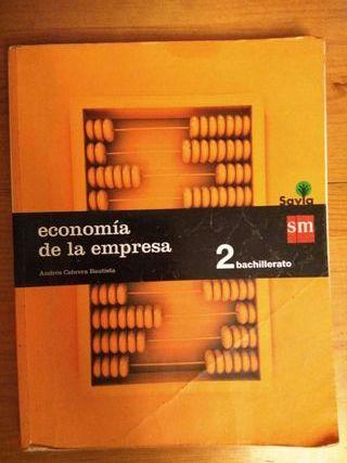 Libro de Economía de la empresa de 2° de bachiller