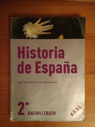 Libro de Historia de España de 2° de bachiller