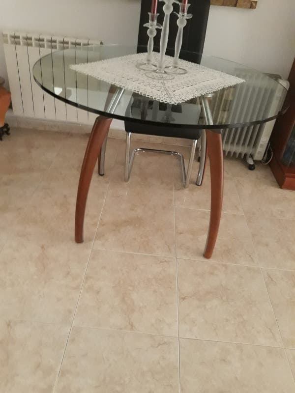 Mesa comedor redonda de cristal de segunda mano por 250 € en ...