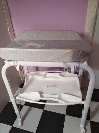bañera-cambiador bebe