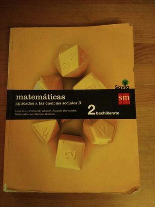 Libro de matemáticas de 2 ° de bachiller