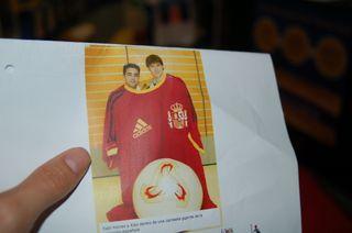Coleccionismo camiseta gigante Seleccion española