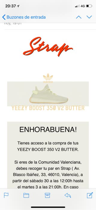 Yeezy boost 350 butter 44 2/3
