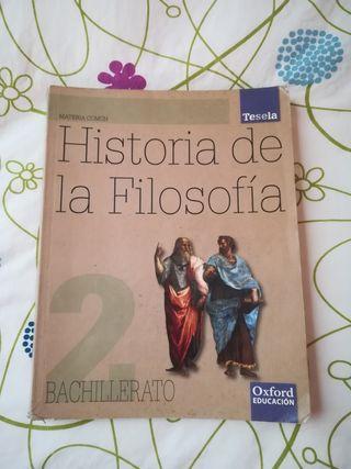 Libro Historia de la Filosofía, 2° bachillerato