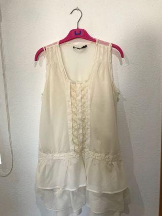 Vestido crudo de Zara