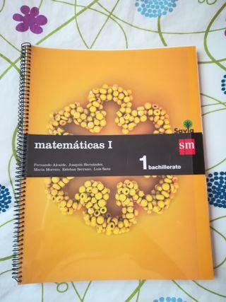 Libro Matemáticas 1, 1° bachillerato