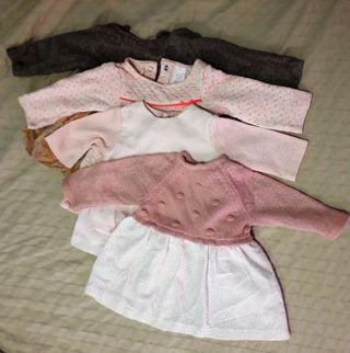 4 Vestidos bebé 3 meses
