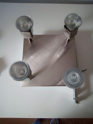 plafon alogeno con cuatro salidas de luz