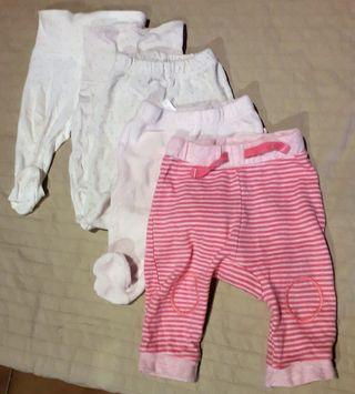 4 Pantalones bebé/niña 1 mes