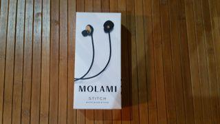 Auriculares Molami Stitch Negro/Dorado