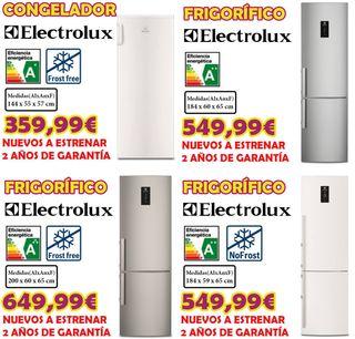 FRIGORICOS Y CONGELDORES ELECTROLUX