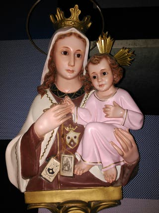 Figura Virgen y niño Jesus