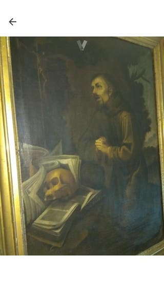 oleo sobre lienzo san francisco de asis