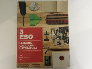 Libro escolar. Lengua catalana y literatura 3ESO.