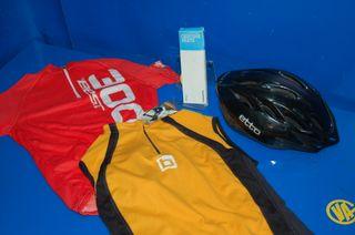 Lote ciclista buen estado 2 maillots + una cadena