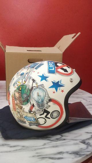 Casco moto DMD vintage vision