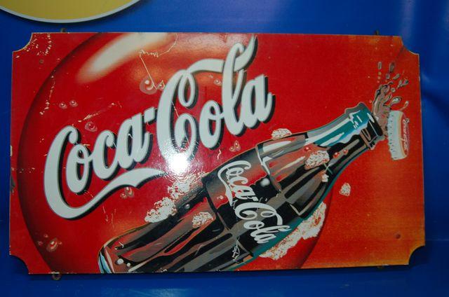 Cartel Metal Coca-Cola medidas 40 cm x 71cm x 2,5