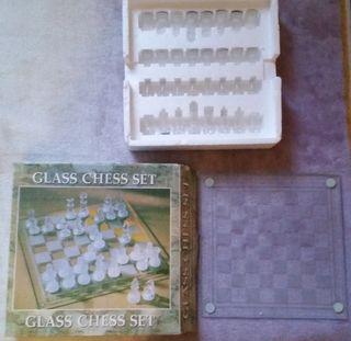 Ajedrez Cristal decorativo y jugar Completo