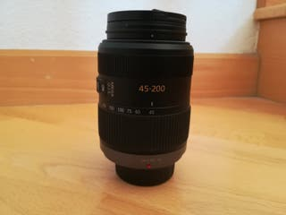 Objetivo Panasonic micro 4 tercios 45-200