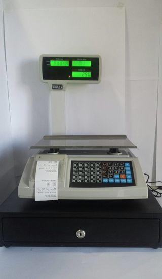 balanza bascula registradora + cajon NUEVA