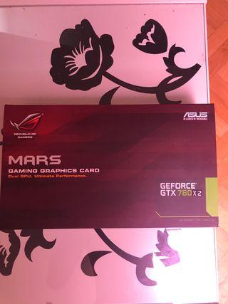 Tarjeta gráfica Gtx 760 x2 Asus Rog Mars