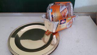 tapers sin usar y 10 platos de adorno