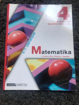 Libros Matemáticas ANAYA 4ºESO