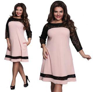 Vestidos negro con palo de rosa