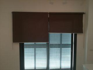 2 Estores ENJE de IKEA 123x250 marrón gris